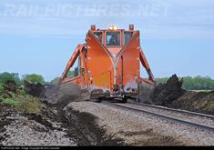 BNSF Jordan spreader is clearing ditches on the eastern end of the Mitchell Sub. powered by a BNSF These maintenance of way systems clean, repair and inspect railroad right of way. Work Train, Train Art, Bnsf Railway, Railroad Pictures, Union Pacific Railroad, Train Pictures, Train Engines, Rolling Stock, Water Tower