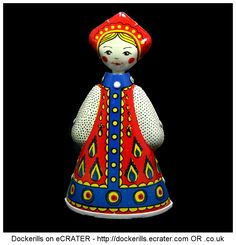 Russian Doll Dancer Toy, Lenin Memorial Factory, USSR (Picture 2 of 2). Vintage Tin Litho Tin Plate Toy. Wind-Up / Clockwork Mechanism.
