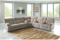 Overly Sectional Non-Power by Ashley HomeStore, Gray, Polyester %) Furniture, Home, Home Furniture, Ashley Furniture, 3 Piece Sectional, Ashley Furniture Sale, Living Room Decor Grey Couch, Sectional, Luxury Sofa