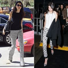 Amal Clooney and Kendall Jenner Know Their Way Around Printed Pants