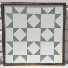 "Image of 24"" x 24"" Farmhouse Barn Quilt - Star Bright (gray) *Ready to Ship!*"