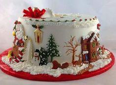 Christmas Cake Designs, Christmas Cake Decorations, Christmas Sweets, Holiday Cakes, Christmas Cooking, Christmas Cakes, Xmas Cakes, Merry Christmas, Christmas Couple