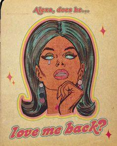 Retro Kunst, Retro Art, Vintage Comics, Vintage Art, Arte Punk, Lobe, Photo Wall Collage, Retro Aesthetic, Retro Futurism