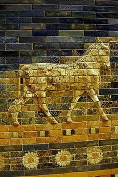 Ishtar Gate from ancient Mesopotamia, now in the Berlin Museum.