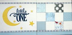 Double page 12 x 12 pre-made baby scrapbook layout kit - Little One