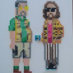 The Big Lebowski (the Dude and Walter) perler beads by waldenstephanie