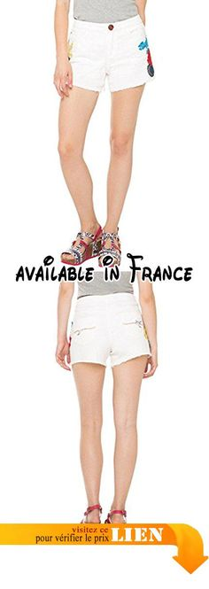 B016KKXN7A : Desigual Blondie Fiesta - Short - Femme - Blanc (Blanco) - W30 (Taille fabricant: 30). #Apparel #SHORTS