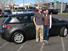 Gerry Knapp's happy customers: Follow Gerry at https://www.facebook.com/gerryoaktreemazda Gary and Sara, congrats on the purchase of your new Mazda3! On behalf of Oak Tree Mazda and the Del Grande Dealer Group, we wish you years of happy and safe driving