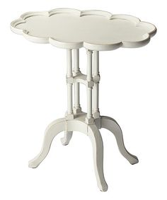 Look at this #zulilyfind! Cottage White Oval Accent Table #zulilyfinds
