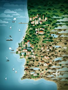 Portugal - Impressive Map Illustrations By KHUAN+KTRON | PORTUGAL / http://www.yatzer.com/khuan-ktron