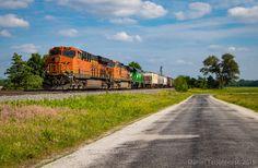 Bnsf Railway, Burlington Northern, Day Trip, Locomotive, Santa Fe, Scenery, Country Roads, America, Fresh