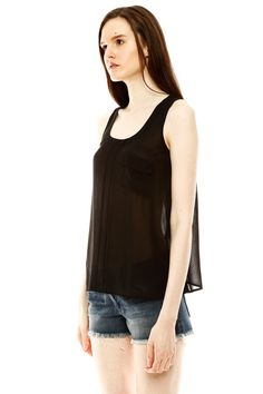 Good for summer: Pocketed A-Line Top