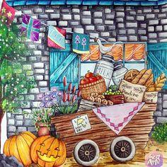#coloriage #adultcolouring #adultcoloringbook #romanticcountry #watercolor #acrylicpaint #prismacolor #arte_e_colorir #arttherapie #colorirlivros #wonderfulcoloring #divasdasartes #desenhosparacolorir #desenhoscolorir #coloringforadults #coloring