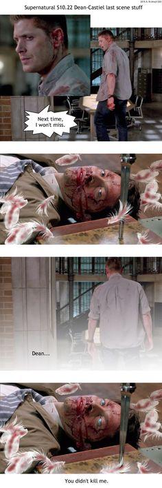 Supernatural S10.22 Dean-Castiel last scene by noji1203