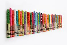 Mini Crayon Sculptures by Diem Chau via theverge #Sculpture #Crayon