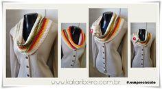Katia Ribeiro Moda e Decoração Handmade : Gola em Crochê com fio Barroco da Círculo