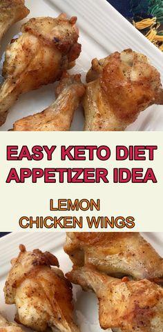 EASY KETO DIET APPETIZER IDEA / LEMON  CHICKEN WINGS