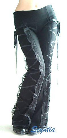 lace-corset pants