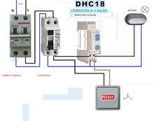 Esquemas eléctricos: minutero de escalera 4 hilos