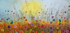 'Sweetest you' by Yvonne Coomber mixed media on canvas 100x50cm £1100 www.lyndhurstgallery.co.uk