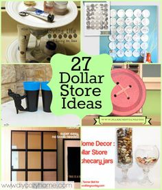 If I know my sweet readers at all, I know you love dollar store crafts as much as I do. Last year I rounded up over 60 Dollar Store Craft Projects, and you asked for more. Well, you got it, thanks. - Diy Home Decor Dollar Store Diy Crafts To Sell, Home Crafts, Fun Crafts, Arts And Crafts, Summer Crafts, Budget Crafts, Homemade Crafts, Cool Diy, Easy Diy