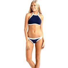 Wholesale Newest Hot  Women Bikini Set High Neck Halter Swimsuit Swimwear Halter Style Bathing Suit #Bikini--Set