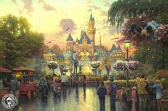 I Love my Thomas Kinkade Disney that I got for Christmas last year