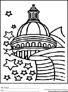 washington dc coloring pages