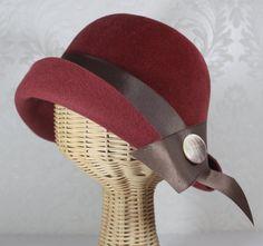Mary Cloche in velour felt -- Bonnet Boutique