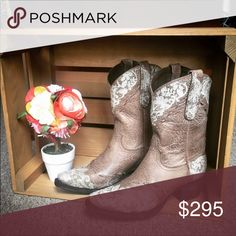 Lane Jeni Lace Shortie Brand New Never Worn! Make a statement in these adorable cowboy boots. True to size Lane Boots Shoes Ankle Boots & Booties
