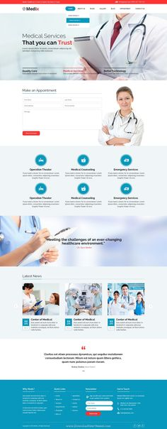 Medix is a PSD template for Health and Medical #websites. It is a highly suitable template for doctors, #dentists, #hospitals, health #clinics, surgeons and any type of health or medical organization.