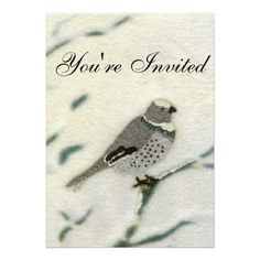 You're Invited Snowbird Invitations. You're Invited Snowbird. A snowbird is someone from the U.S. or Canada who spends a large portion of the winter in warmer climates. Great holiday greeting cards!