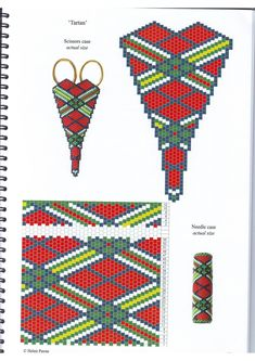 Схемы: Чехольчики для ножниц из бисера