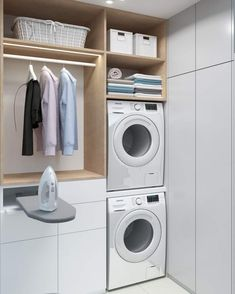 Utility Room Storage, Storage Room, Stacked Washer Dryer, Washer And Dryer, Laundry Room, Home Appliances, Decor, Pantry Room, House Appliances