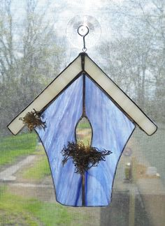 Stained Glass Birdhouse being auctioned on Listia!