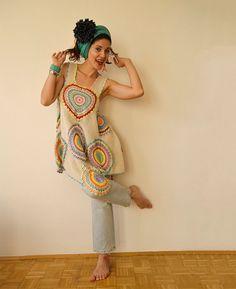 Women's Dress/Tunic   Cotton от subrosa123 на Etsy, €200.00