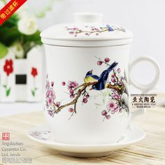 Cup-ceramic-filter-water-cup-with-lid-porcelain-mug-with-cover-bone ...