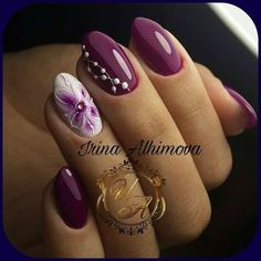 Installation of acrylic or gel nails - My Nails Purple Nail Art, Pink Nails, Gel Nails, Acrylic Nails, Manicure, Nail Nail, Nail Polish, Stylish Nails, Trendy Nails