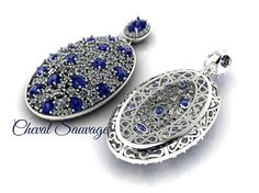 #tanzanite #clusterpendant #Passion #3dprintedjewelry #freestyle #CS #CHEVALSAUVAGE #PARUR