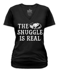 Look what I found on #zulily! Black 'The Snuggle Is Real' V-Neck Tee - Plus #zulilyfinds
