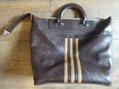 Vintage English Man Made Materials St Michael Brown Weekender Sports Carry…