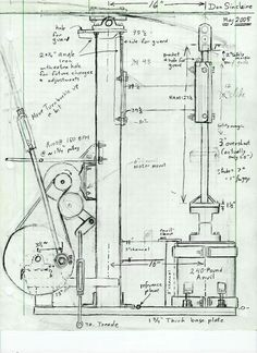 DonS Rusty-type power hammer drawing - Member Galleries - I Forge Iron Power Hammer Plans, Blacksmith Power Hammer, Blacksmith Forge, Forging Tools, Forging Metal, Forging Hammer, Metal Working Tools, Metal Tools, Blacksmith Projects