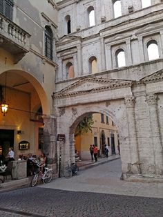 Verona, Porta Borsari is the 1st century Roman Gateway to the city.