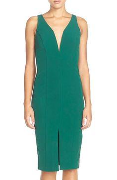Bardot 'Olivier' Lattice Inset Woven Sheath Dress