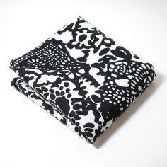 Black and White Graphic Jaquard Hawaiian Fabric