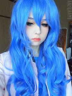 The wig is vivid blue. The tresses are soft yet voluminous. The wig has a flattering bounce that gives your wig a life. Buy: http://www.uniqso.com/cosplay-wig-date-a-live-yoshino?search=blue%20wig?route=common/home&tracking=5331375d5ad24