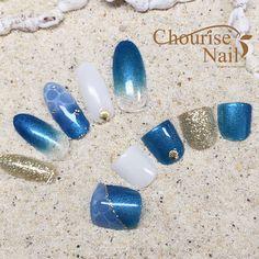 Chourise Nail* [神奈川県/たまプラーザ] フットとお揃いで可愛さ2倍♪ビーチで映える海ネイル
