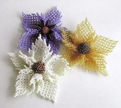 Netted Flowers (English pattern on website) I saved the pattern page also, somewhere on here