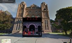 Iconic Album Covers Superimposed on Real World Locations Found in Google Street View
