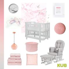 We just love this pink and grey nursery colour theme!! 🎀Complete the look with our Luna cot and Haywood nursing chair in grey.